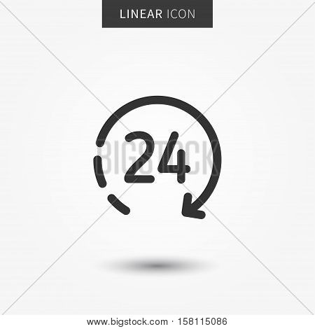 24 hour icon vector illustration. Isolated 24 hours symbol.