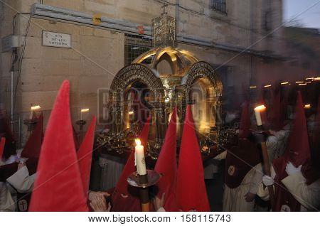 penitentes de la Cofradía del Silencio (penitents of the Brotherhood of Silence) Easter week Zamora Spain