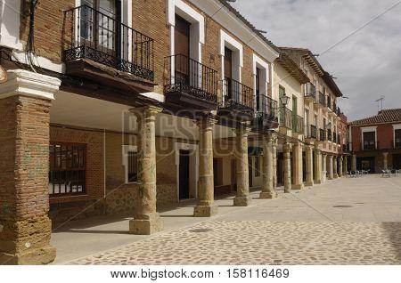 Main square of Villalpando Zamora province Castilla y León Spain