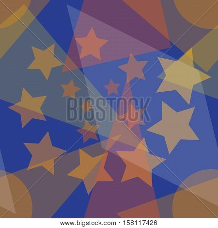 Abstract seamless pattern of different multicolored geometric shapes, eps10 vector illustration
