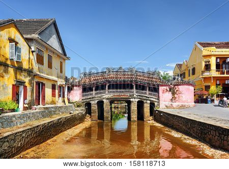 The Japanese Covered Bridge In Hoi An Ancient Town, Vietnam