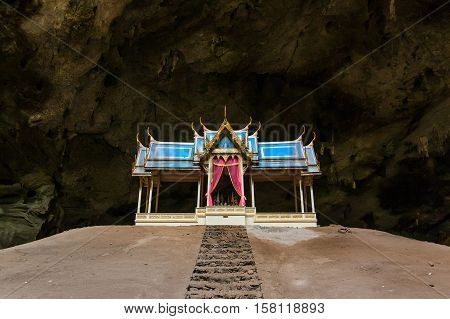 Pavilion in the the Cave Prachuap Khiri Khan Thailand