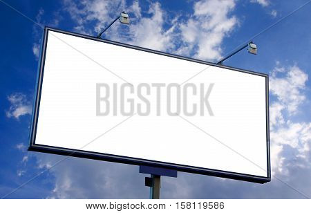 The view of billboard in street of city