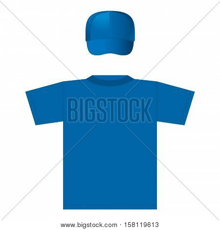 The view of T-shirt template for making design