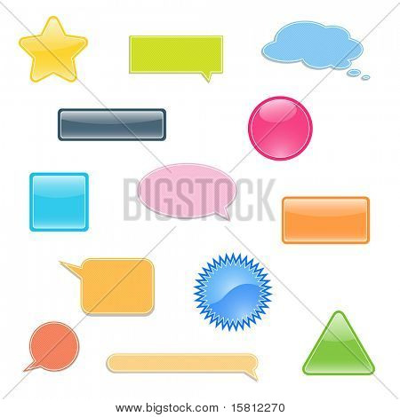 Set of labels, bubbles for you text. This illustration is also available as vector.