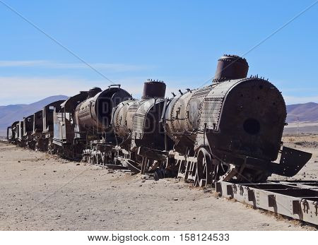 Train Cemetery In Uyuni