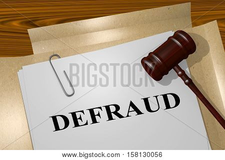 Defraud - Legal Concept