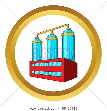 Wort preparation vector icon in golden circle, cartoon style isolated on white background