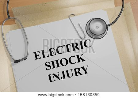 Electric Shock Injury - Medical Concept