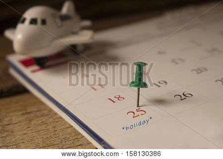 calendar or christmas day with note text of holiday concept for christmas and new year .