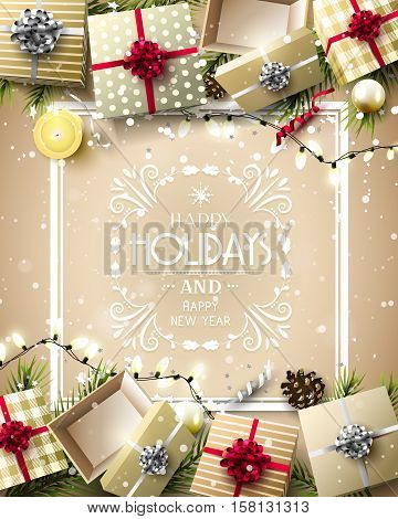 Luxury Holiday Greeting Card