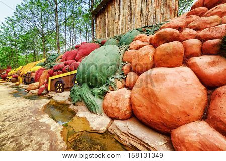 Colorful Clay Sculptures Of Vegetables, The Dalat Star