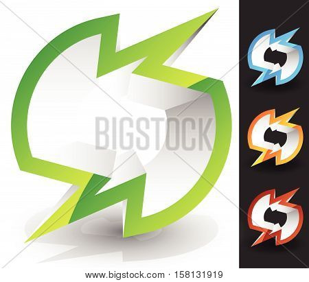 Generic 3D Icon / Logo In 4 Color. Glossy Spatial Abstract Element