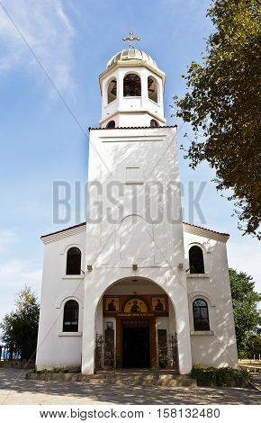 Church of Saints Cyril and Methodius Dome in town of Sozopol, Bulgaria.