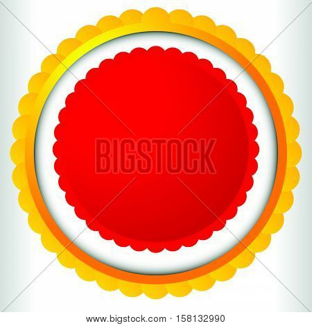 Blank Badge, Rosette, Cockade Icon. Award, Prize Shape