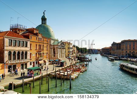 View Of The Grand Canal And The San Simeone Piccolo In Venice