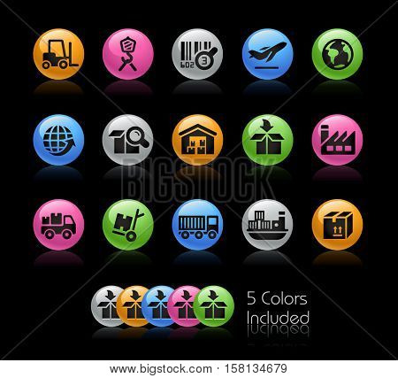 Industry and Logistics Icons / The file Includes 5 color versions in different layers.