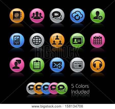 Business Network Technology / The file Includes 5 color versions in different layers.