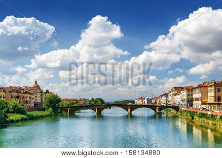 View Of The Ponte Alla Carraia Over The Arno River In Florence