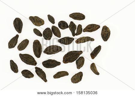 Black haritaki (harad) or cherubic myrobalan (Terminalia chebula)