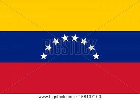 Official vector flag of Venezuela . Bolivarian Republic of Venezuela .