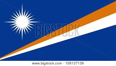 Official vector flag of Marshall Islands . Republic of the Marshall Islands .