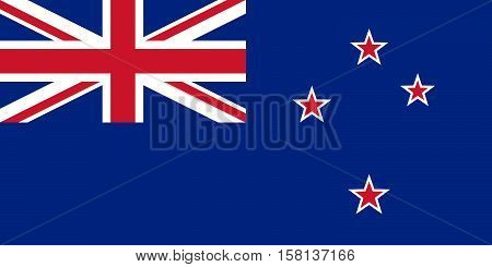 Official vector flag of New Zealand .