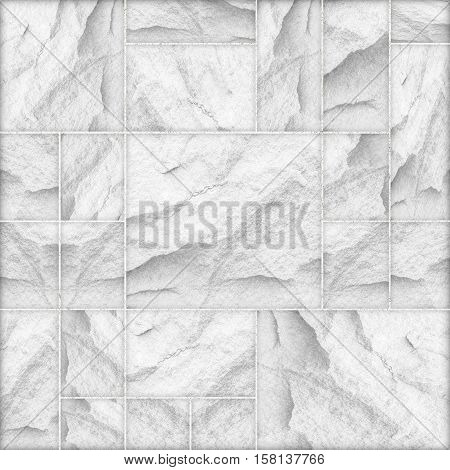 modern white slab slat stone wall background / white stone