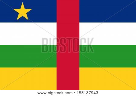 Official vector flag of Central African Republic . ( CAR )