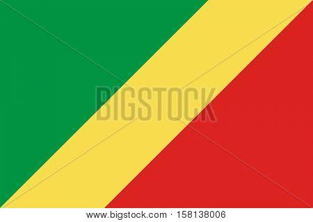 Official vector flag of Republic of the Congo .