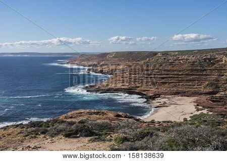 Rugged red coastline of Kalbarri, Western Australia, Australia