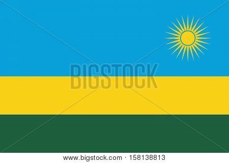 Official vector flag of Rwanda . Republic of Rwanda .