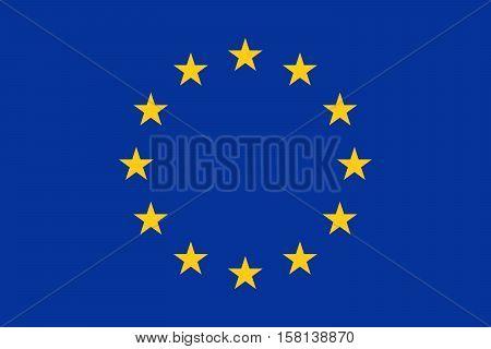 Official vector flag of European Union ( EU )