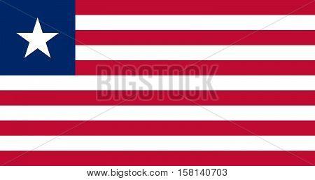Official vector flag of Liberia . Republic of Liberia .