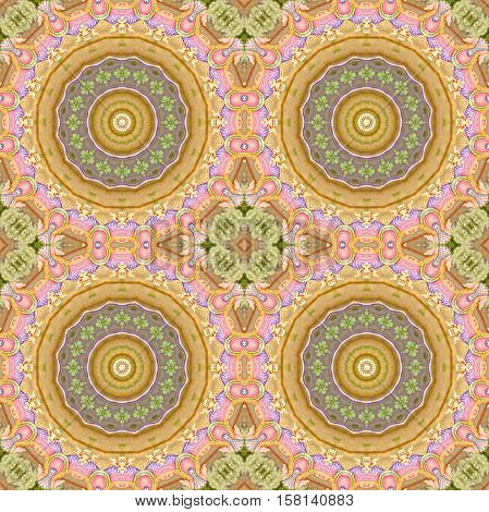 seamless colorful geometric carpet decoration pattern for background