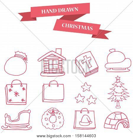 Christmas object icons collection stock vector art