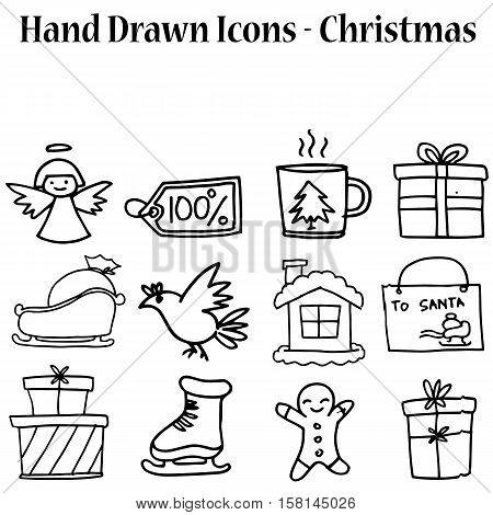 Vetcor art of holiday christmas set collection stock