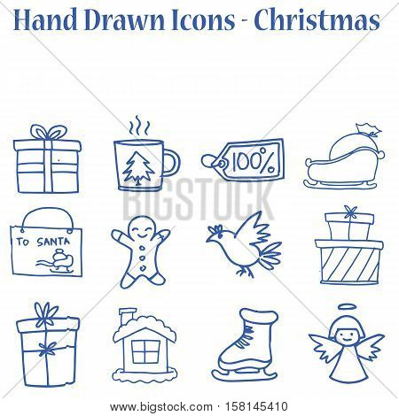Set of Merry Christmas vector collection stock