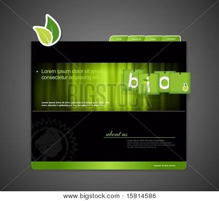 Website template with bio sign.