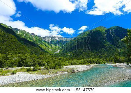 Kamikochi Hotaka Dake Mountain River View H
