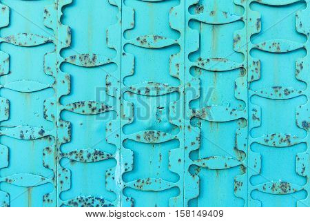 Vintage Turquoise Metal Background