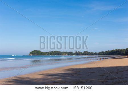 Klong Dao Beach a beautiful beach on Lanta Island Krabi Thailand.