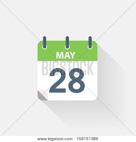 28 may calendar icon on grey background