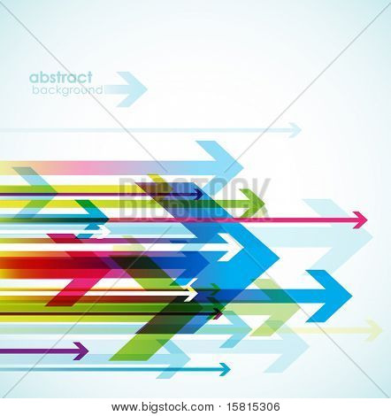 Abstract colored background with arrows.