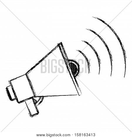 Megaphone icon. Amplifer speaker bullhorn announce and speech theme. Isolated design. Vector illustration