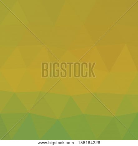 Yellow and green polygonal illustration with triangle. Geometric background.
