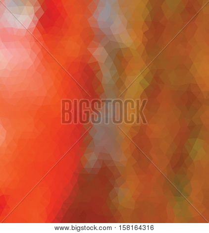 Orange polygonal illustration with triangle. Geometric background.