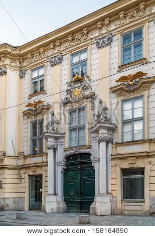 Altes Rathaus is old Town hall in Baroque style Vienna Austria