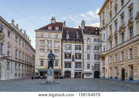 Judenplatz (English:Jewish Square) is a town square in Vienna's Innere Stadt that was the center of Jewish life Austria