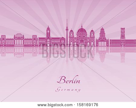 Berlin V2 Skyline In Purple Radiant Orchid